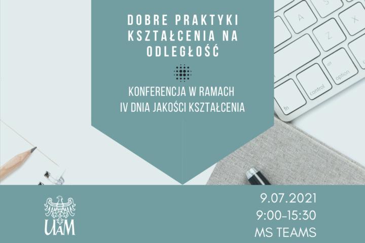Dobre praktyki kształcenia na odległość – druga konferencja w ramach IV Dnia Jakości Kształcenia
